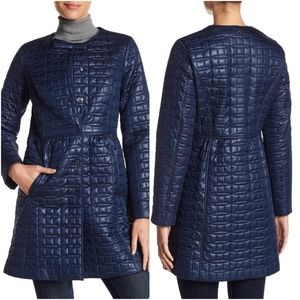 Kate Spade New York Bow Detail Quilted Coat